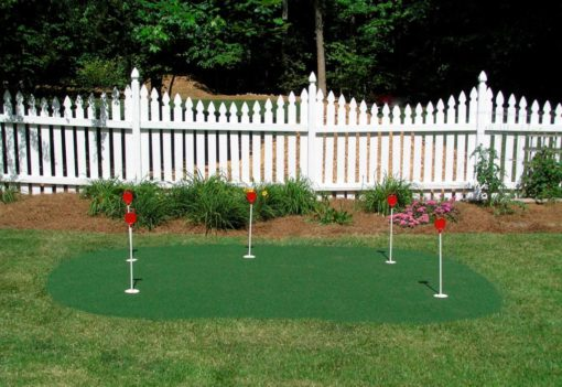 9x15 Outdoor Putting Green with Markers